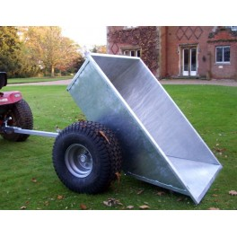 Galvanised Tipping Dump Trailer - Floatation Wheels