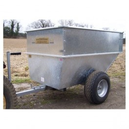 Large Capacity Galvanised Tipping Dump Trailer - Floatation Wheels