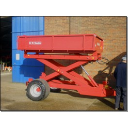 2 Ton Trailer - 2.44m x 1.52m - 30hp - High Lift