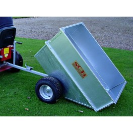 Large Capacity Galvanised Tipping Dump Trailer - Wide Profile Wheels SCHGT/GALV
