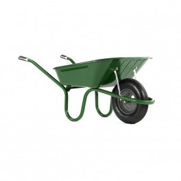 90L Original Green Wheelbarrow c/w Pneumatic - Standard Tyres
