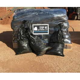 50 Sand Filled Black Plastic Sandbags