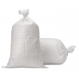 Empty White Plastic Sandbags (Pack of 100)