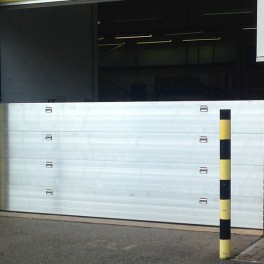 Nautilus Flood Barrier 2400mm wide (with Compression Post) - 400mm High - One Floodboard with Reveal Fix Rails