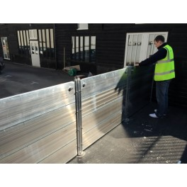 WaterWall Flood Barrier 7200 - 8000mm wide -  (7200mm x 300mm Reveal Fix Rails)