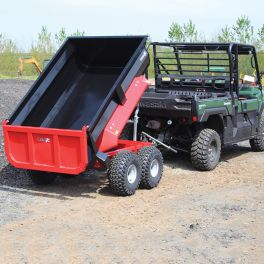 Dump Trailer with Manual Hydraulic Tip - 800L