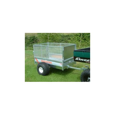 5' ATV Livestock Trailer with Extended Detachable Mesh Sides