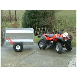 5' ATV Livestock Trailer with Solid Pressed Steel Sides