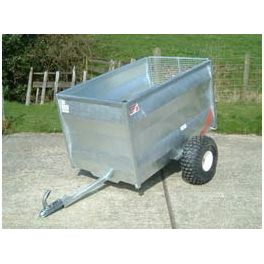 5' ATV Livestock Trailer with Solid Pressed Steel Sides - Budget with Metal Floor