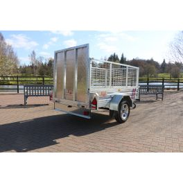 Trailer 750kg Caged & Ramped Heavy Duty Galvanised Box Utility ROAD LEGALTrailer 7x4""