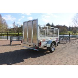 7ft x 5ft Trailer 750kg Caged & Ramped Heavy Duty Galvanised Box Utility ROAD LEGAL Trailer