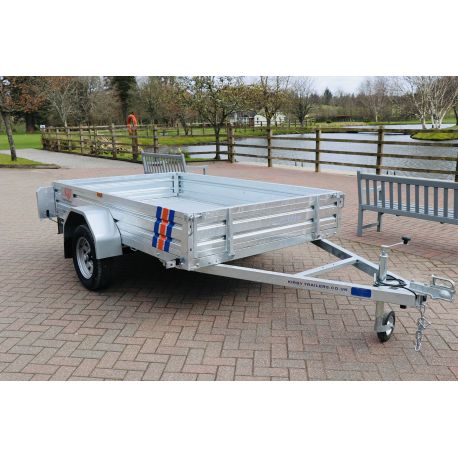 Kirby Trailers 750kg Multi Purpose Heavy Duty Galvanised Box Utility Trailer 8x5""