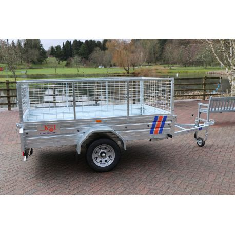 """Kirby Trailers 750kg Caged Heavy Duty Galvanised Box Utility Trailer 7x4"""""""