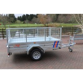 8ft x 5ft Trailer 750kg Caged Heavy Duty Galvanised Box Utility ROAD LEGAL Trailer